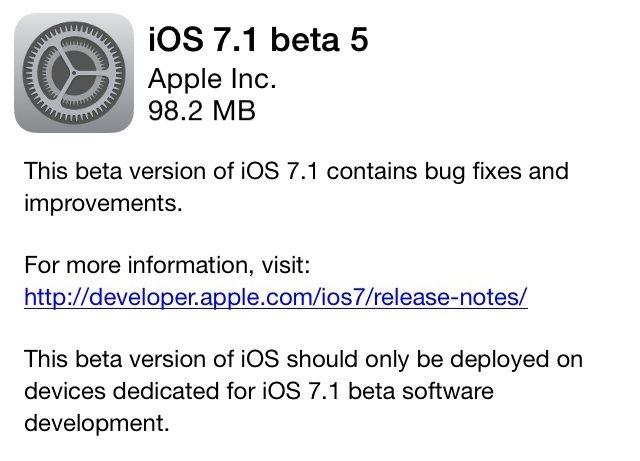 iOS7.1 beta5までの変更点についてまとめてみた