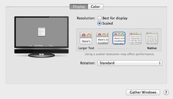 OS X 10.9.3から外部接続の4KディスプレイのRetina化が可能に!
