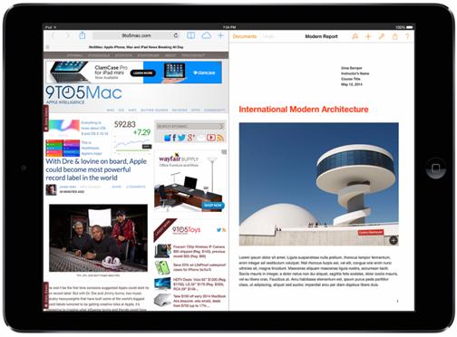 Apple、iOS8でiPad向けに2画面表示可能なマルチタスクを導入か!?