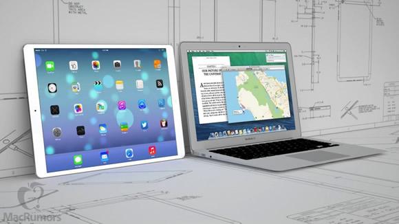 iPad Proの大きさはSurface Pro3とほぼ同じで、厚さは7mmほどになる?