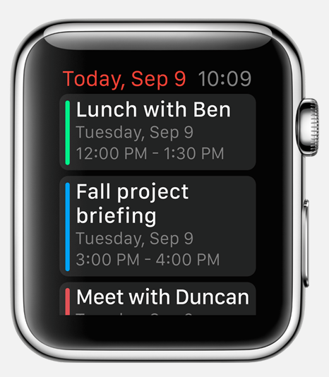 Apple Watch-calendar