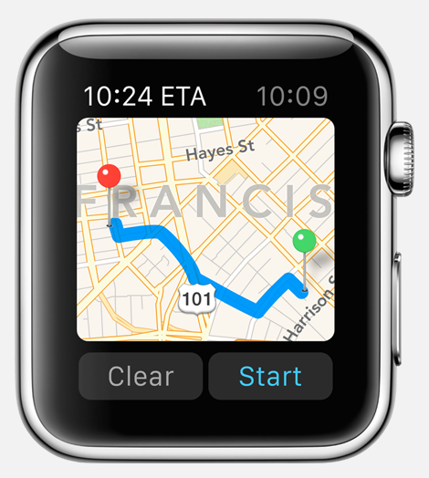 Apple Watch-maps