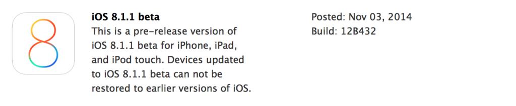 iOS8.1.1 update