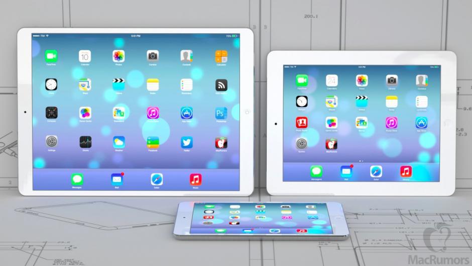 iPad Proは12.9インチディスプレイ搭載で2015年4月以降に発売か!?