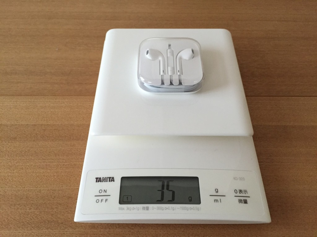 weight-EarPods