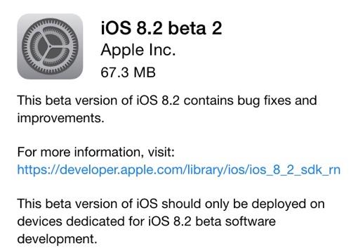 「iOS 8.2 beta2」「Xcode 6.2 beta2」が開発者向けにリリース!WatchKitなどの不具合を修正