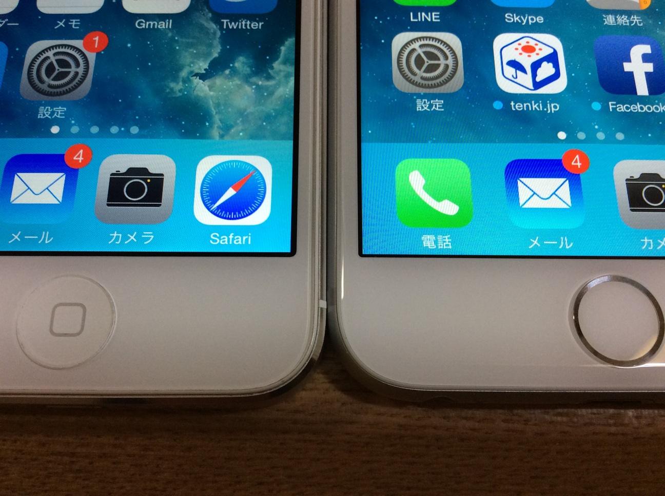 iPhone5とiPhone6のベゼル幅を測定し、比較してみた