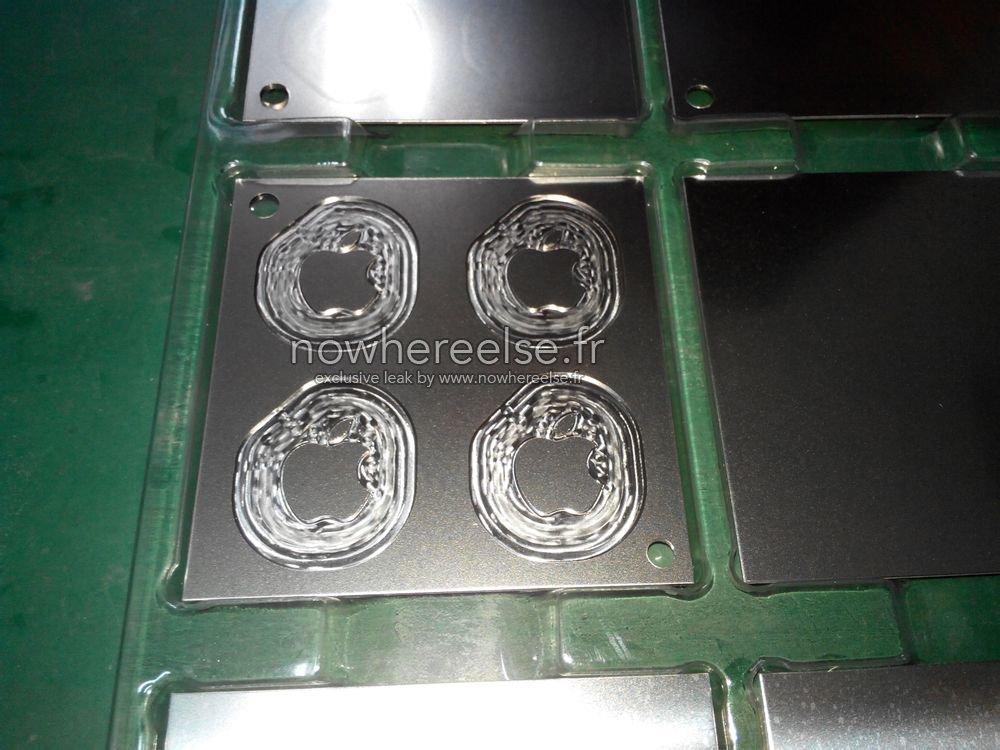 12インチMacBookのロゴはやはり金属製?背面ロゴの部品の写真が流出