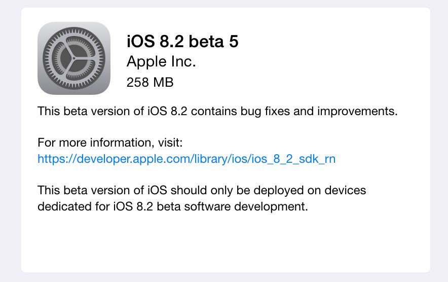 iOS 8.2 beta5-1