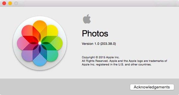 OS X 10.10.3の新アプリ「Photos」の容量は約50MB!?「iPhoto」のおよそ3%ほどの容量に