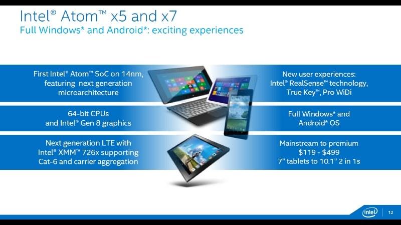 「Cherry Trail」がAtom x7、x5として正式発表!GPU性能は最大2倍に向上