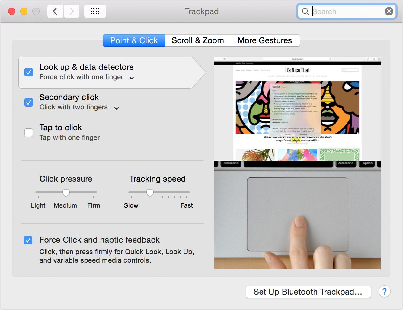 Apple、感圧タッチトラックパッドの使い方の解説ページを公開