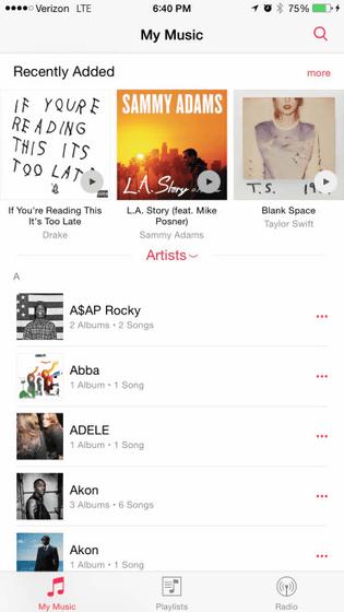 「iOS 8.4 beta」が開発者向けにリリース!「ミュージック」アプリが一新!