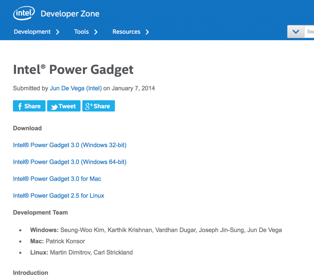 Intel Power Gadget-1