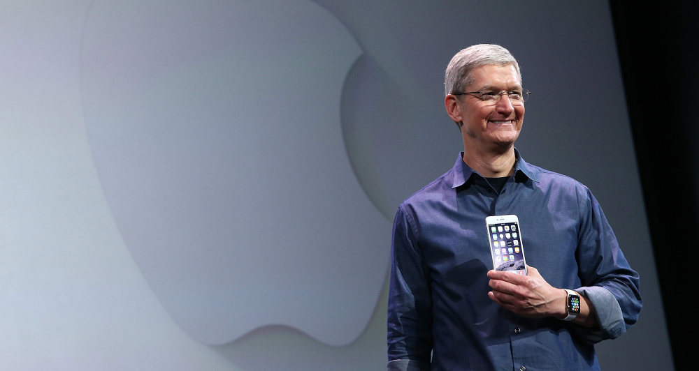 Apple CEO Tim Cook speaks during an Apple special event at the Flint Center for the Performing Arts on September 9, 2014 in Cupertino, California. Apple is expected to unveil the new iPhone 6.