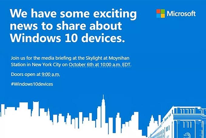 Microsoft event Octber 2015