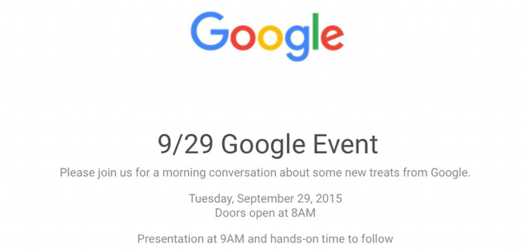 google event september 2015