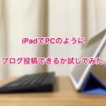iPadでPCのようにブログ投稿できるか確かめてみた