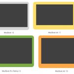 【2015年版】MacBook 12、Air 11/ 13、Pro 13の画面の大きさ、ベゼル比較まとめ