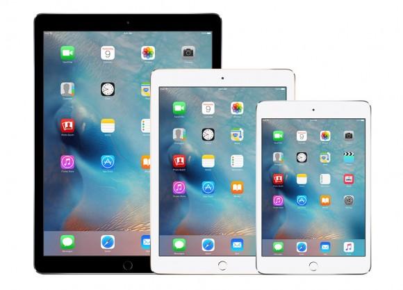 iPad pro:air2:mini4