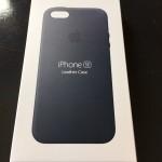iPhone SE用純正ケース(ミッドナイトブルー)の外観レビュー
