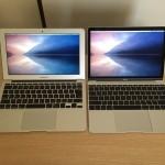 MacBook 12とMacBook Air 11の外観を詳しく比較してみた