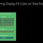 「iOS 10」ではiPad Pro 9.7インチにて広色域のP3撮影対応へ