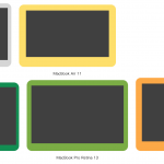 【2016年版】MacBook 12、Air 11/13、Pro 13の画面の大きさ、ベゼル比較まとめ