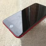 iPhone 7レッドカラーのフロントパネルをブラックにした人が現れる!