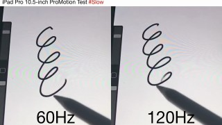 iPad Pro 10.5の120Hzと60HzのスクロールやApple Pencil遅延比較動画が公開!