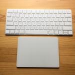 Magic KeyboardとMagic Trackpad 2の大きさ&外観比較