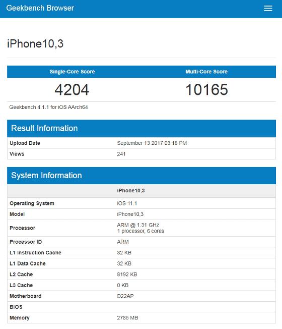iPhone X bench-1