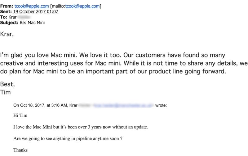 Mac mini mail