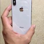 iPhone Xの新たな実機映像が流出!シルバーモデルの背面はホワイトに近い?