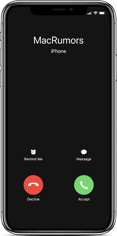 iphone x call