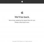 Apple Storeページがメンテナンス中に!新製品発表準備へ