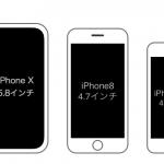 iPhone X/8/8 Plus/SE/4sの大きさ比較まとめ