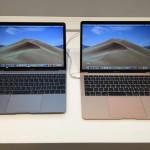 【実機画像】新型MacBook Air 13インチとMacBook 12インチの大きさを比較してみた