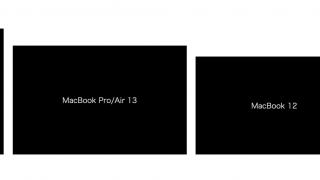 【2018年版】MacBook Pro 15/13インチ、MacBook Air 13/11インチ、MacBook 12インチの全サイズ画面大きさ比較まとめ