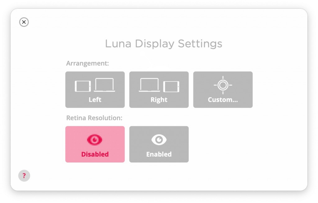 Luna Display setting-1