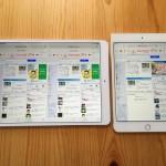 【実機比較】10.5インチiPadの画面サイズは7.9インチiPad mini約1.8個分