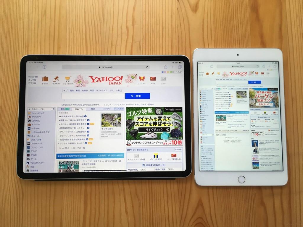 iPad 11 7.9 gamen size-3
