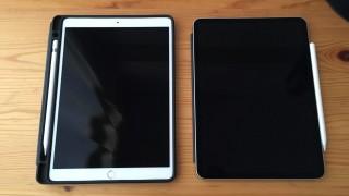 【実機画像】iPad Pro 10.5インチと11インチの画面サイズ比較