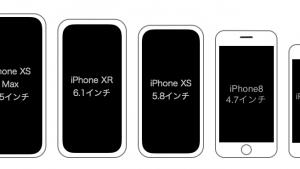 iPhone XS Max/XR/XS〜4sまでの歴代iPhone大きさ比較まとめ