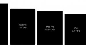 【2018年版】iPad Pro 12.9/11/10.5インチ、iPad 9.7インチ、iPad mini 7.9インチまでの全サイズ画面大きさ比較まとめ
